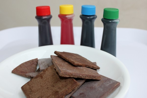 chocolate and artificial food color